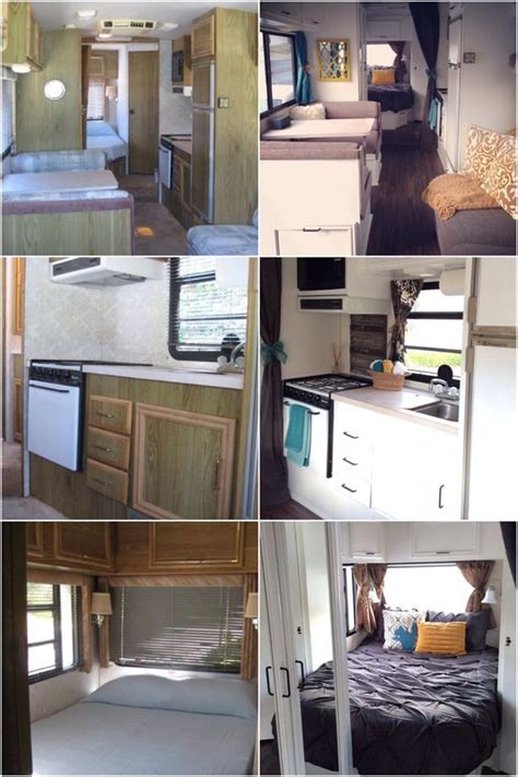 rv remodel  fleetwood flair painted cabinets