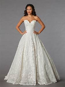 sweetheart lace ball gown wedding dress with floor