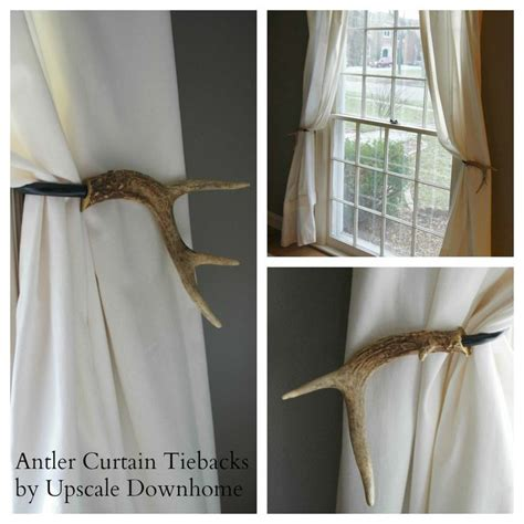 antler curtain tie backs pin by upscale downhome on upscale downhome brand curtain