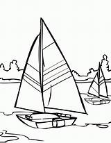 Coloring Water Pages Sailboat Sailing Printable Sail Adult Boat Colouring Walks Jesus Template Ship Simple Clipart sketch template