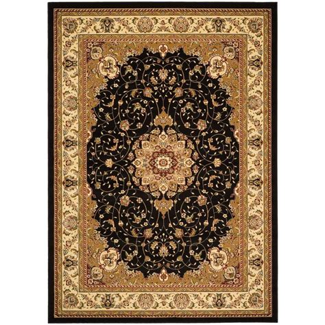 black and ivory area rugs safavieh lyndhurst black ivory 8 ft 11 in x 12 ft area 7836