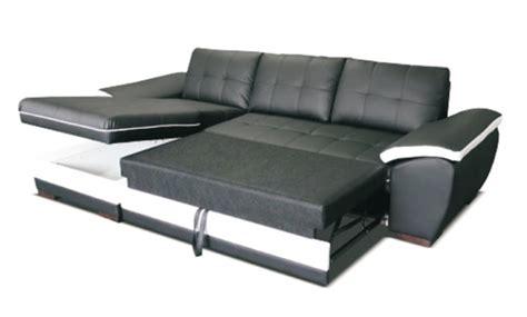 canape d angle 224 droite convertible marc convertible noir blanc