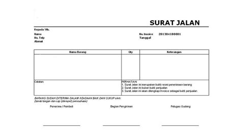 surat jalan adalah dokumen wajib saat pengiriman barang