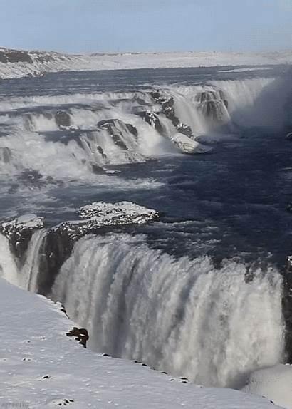 Waterfall Waterfalls Gifs Nature Scenery Iceland Animated
