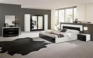 Chambre A Coucher Noir. chambre coucher moderne blanc et noir laqu ...