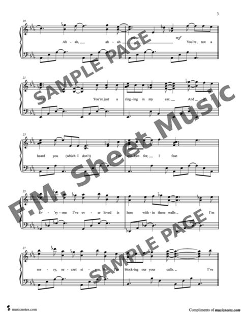 All ▾ free sheet music sheet music books digital sheet music musical equipment. Into the Unknown (Frozen 2 - Movie Version) (Intermediate Piano) By Idina Menzel - F.M. Sheet ...