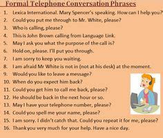 telephone conversation images english lessons