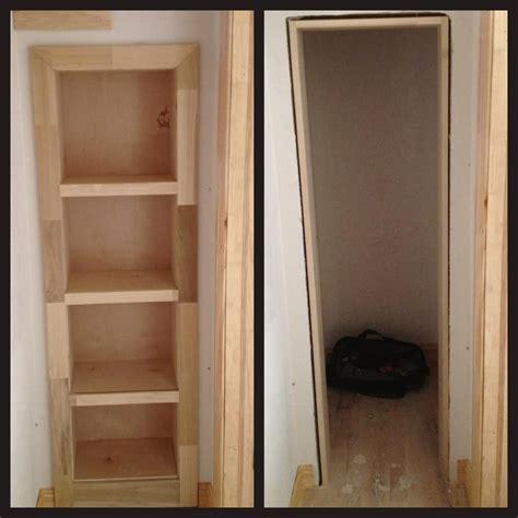 Hideaway Closet Doors by Rolling Bookshelf Door Conceals Secret Gun Closet