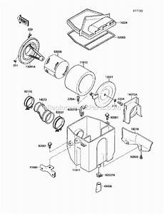 Kawasaki Klf220-a2 Parts List And Diagram