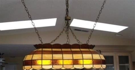 stained glass pool table light fixture stained glass pool table light vintage ebay ebay finds