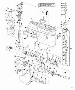 Evinrude 1974 70 - 70443m  Gearcase