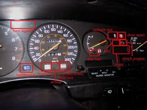 Warning Lights On Toyota Corolla Dash