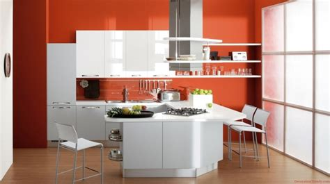 cuisine couleur orange cuisine couleur orange pour un décor moderne et énergisant