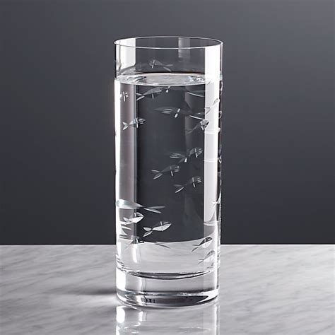 Crate And Barrel Barware - reef highball glass crate and barrel