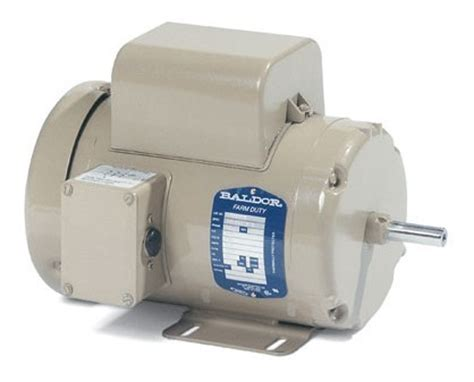 baldor electric motor farm duty tefc 7 5 hp 1ph 1730rpm