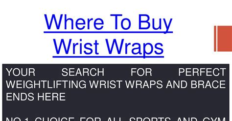 Where To Buy Wrist Wrapspdf  Docdroid