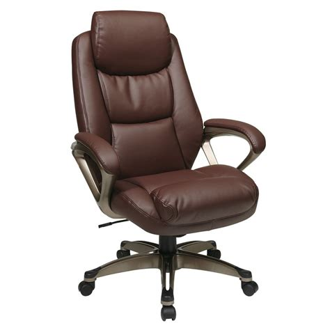 shop office one worksmart wine cocoa leather