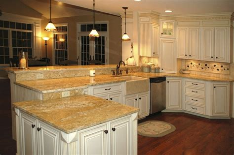 Kitchen With Both Peninsula And Island by Bright Kitchen With Multilevel Peninsula Luxury Kitchens