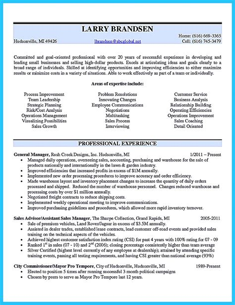 outstanding to make most attractive business owner resume