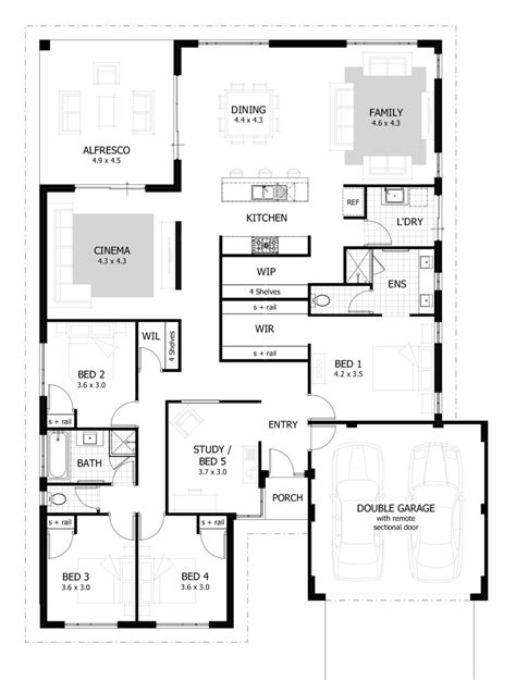 home plan com bedroom house plans timber frame houses simple ideas 4