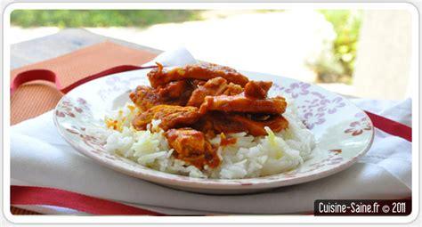 cuisine saine et bio recette bio poulet sauce tomate et curcuma