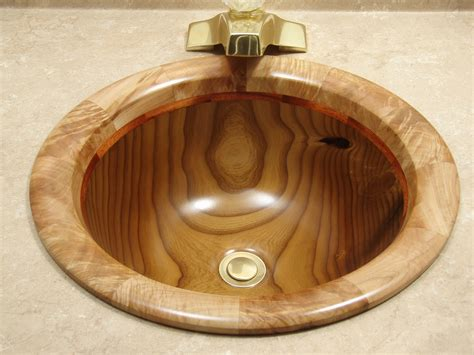 olive wood drop  bath sink sinks gallery
