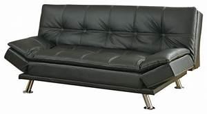 metal leg faux leather sofa bed futon black not include With black faux leather futon sofa bed