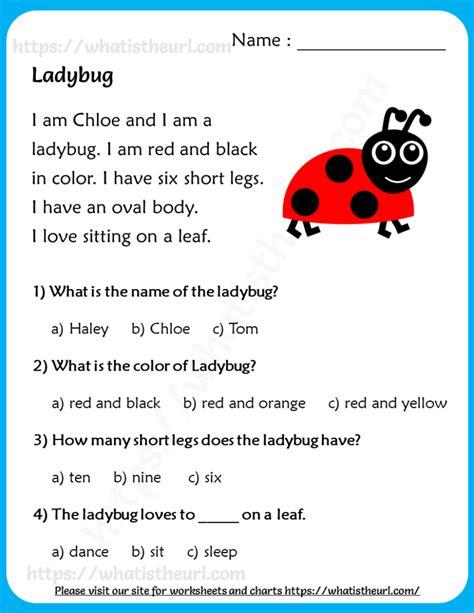 lady bug reading comprehension  grade   home