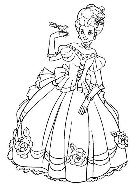 printable madam princess coloring pages