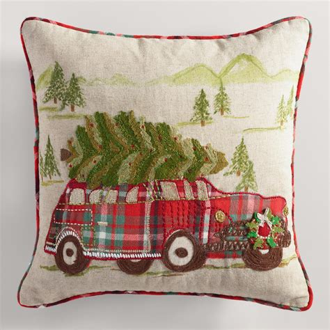 vintage christmas car throw pillow world market