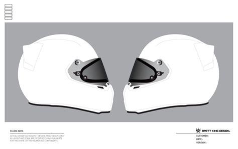 helmet template brett king design helmet templates