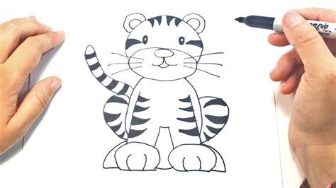 como dibujar  tigre  ninos dibujo de tigre paso  paso youtube