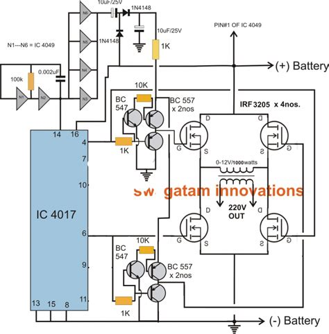 transformerless dc  ac inverter circuit diagram inverter