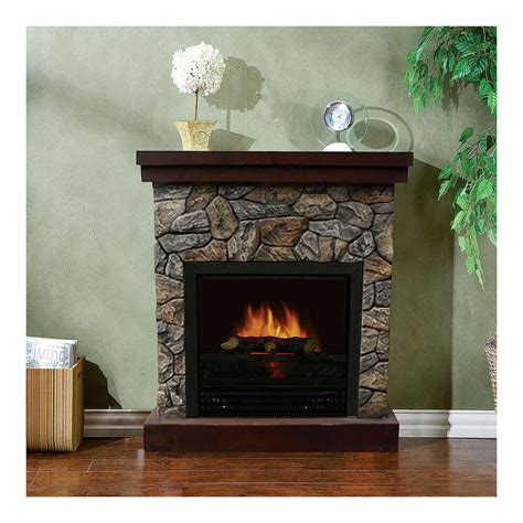 stonegate polystone electric fireplace  mantel