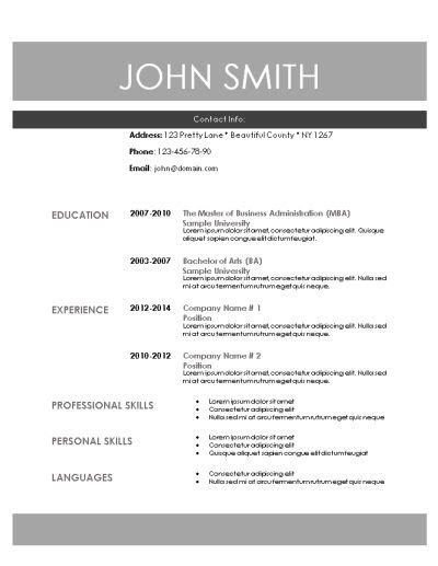Basic Information In Resume by Best 25 Free Printable Resume Ideas On