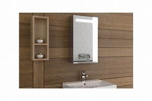 Armoire Pour Salle De Bain : armoire salle de bain lumineuse simple porte 40 cm de large tout miroir ~ Teatrodelosmanantiales.com Idées de Décoration