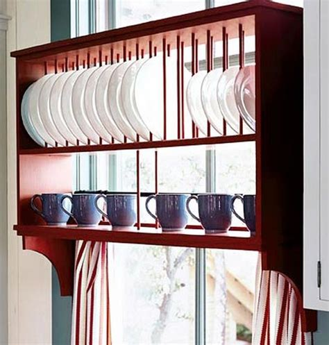 woodwork wooden plate rack wall mounted  plans