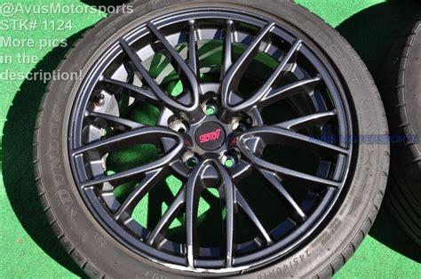 18 quot subaru wrx sti oem factory wheels dunlop sport maxx rt