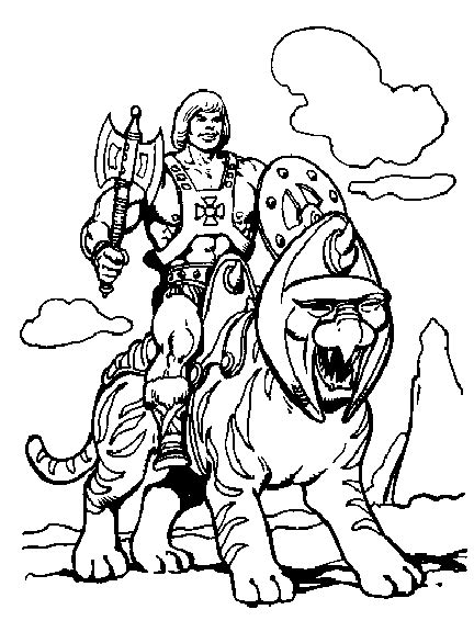 picture of m heman Colouring Pages | Cartoon coloring