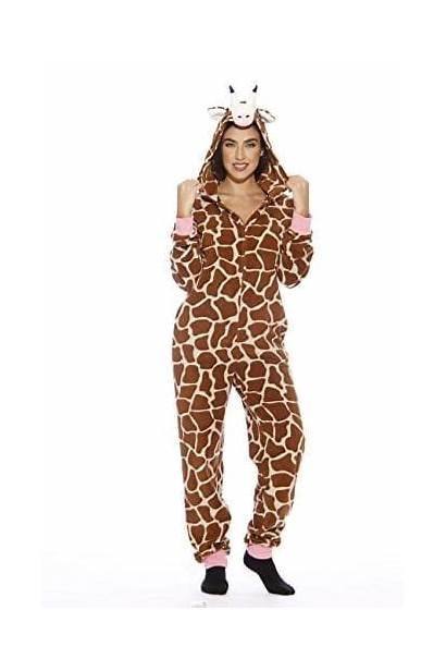 Pajamas Onesie Adult Giraffe Followme Xs Onesies