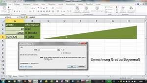 Alter In Excel Berechnen : excel sin und bogenmass h he im rechtwinkligen dreieck ~ Themetempest.com Abrechnung