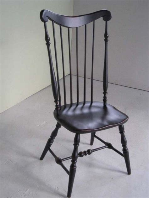 made black high back side dining chair by