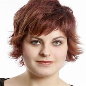 Round Full Face Women Hairstyles For Short Hair PoPular