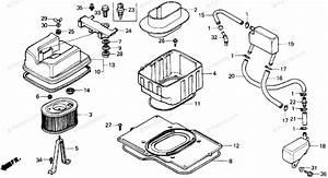 Honda Motorcycle 1987 Oem Parts Diagram For Air Cleaner