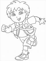 Go Diego Coloring Pages Printable Cartoon sketch template