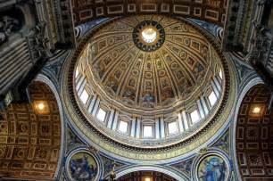 interno roma roma basilica di san pietro interno cupola maupes