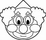 Clown Coloring Face Scary Clipart Fish Drawing Printable Clowns Colouring Clipartmag Balloons Getcolorings Clip sketch template