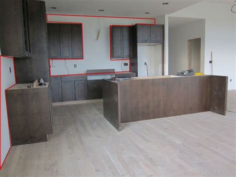 subway tile floor to ceiling in kitchen area what do you