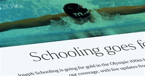 Schooling's homecoming: Live blog   The Straits Times