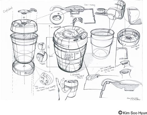 product design sketches drawon keep cup sketch lesson